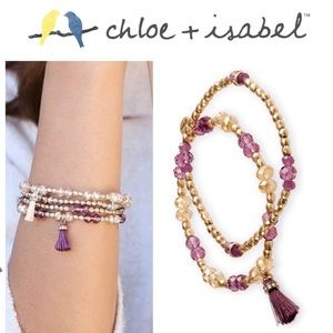 2️⃣Set! 🆕 Beaded Stretch Bracelet GOLD/PR B339GPR
